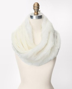 Faux Fur Ribbed Infinity Scarf @ Ann Taylor