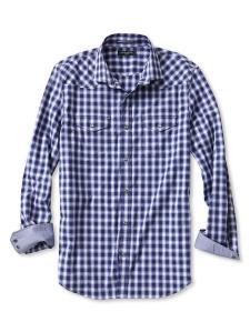 Men's Slim-Fit Checkered Western Shirt @ Banana Republic