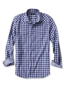 Men's Slim-Fit Checkered Western Shirt @ Banana Republic