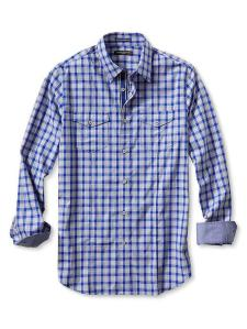 Men's Slim-Fit Checkered Utility Shirt @ Banana Republic