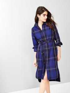 Plaid Shirtdress @ Gap