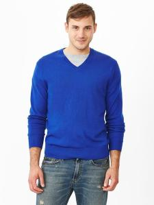 Merino V-Neck Sweater @ Gap