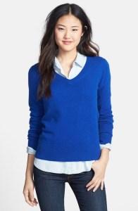 Halogen Cashmere V-Neck Sweater @ Nordstrom