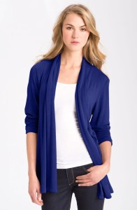 MOD.lusive Ruched Sleeve Long Cardigan @ Nordstrom