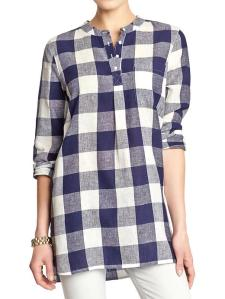 Buffalo Plaid Tunic @ Old Navy